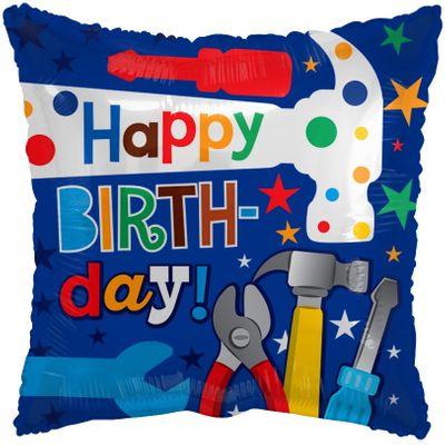 Happy Birthday Tools Balloon