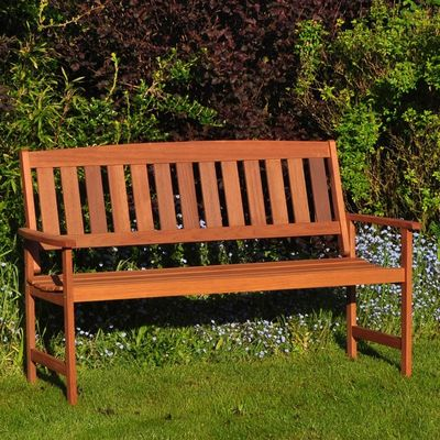 Kingfisher 3 Seater Hardwood Bench