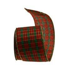 Wired Edge Tartan Ribbons 7121