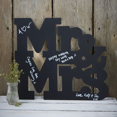 Mr and Mrs Chalkboard Guestbook