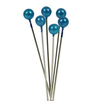 Blue Pearl Headed Pins