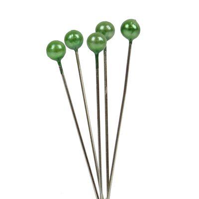 Apple Green Pearl Headed Pins