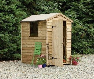 Forest Garden Pressure Treated Overlap Apex Shed 6x4