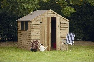 Forest Garden Pressure Treated Overlap Shed 7x7
