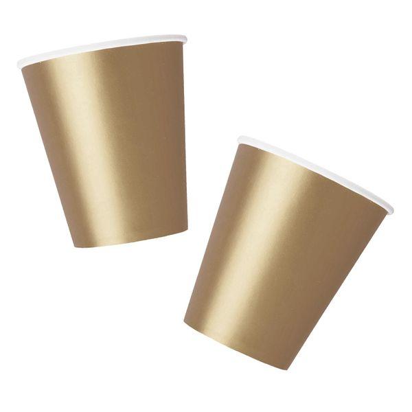 Antique Gold Paper Cups