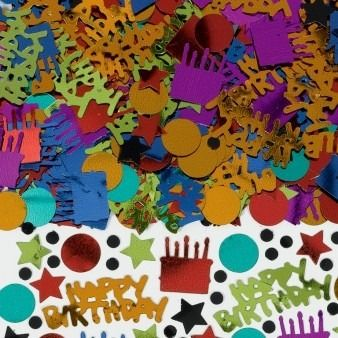 Dots, Stripes and Happy Birthday Confetti