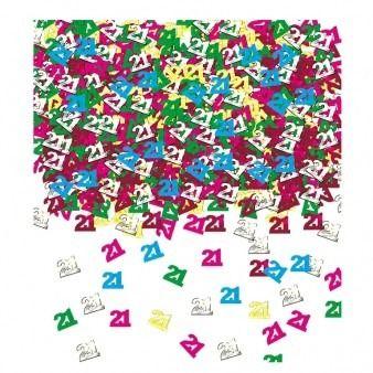 21st Birthday Metallic Confetti