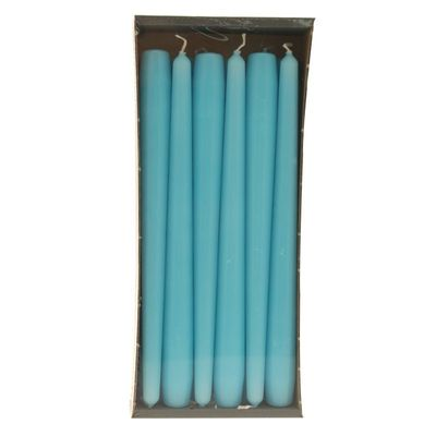 Turquoise Taper Candle
