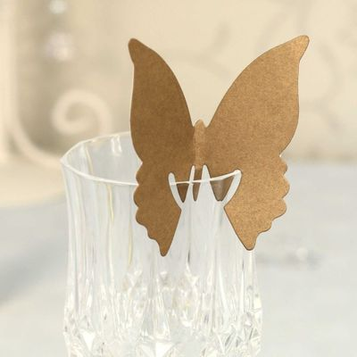 Gold Butterfly Place Card Holder