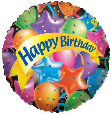 Happy Birthday Festive Balloon (17400-18)