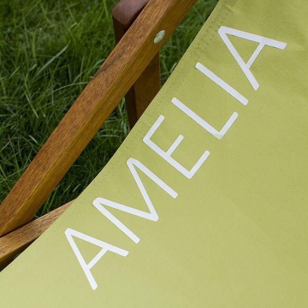 Personalised Plain Colour Deckchair Detail