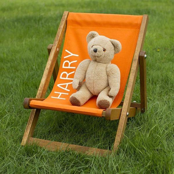 Personalised Plain Colour Deckchair