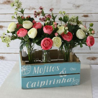 Drinks Crate With Flowers