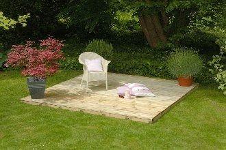 Forest Garden Deck Board Kit 3x3m