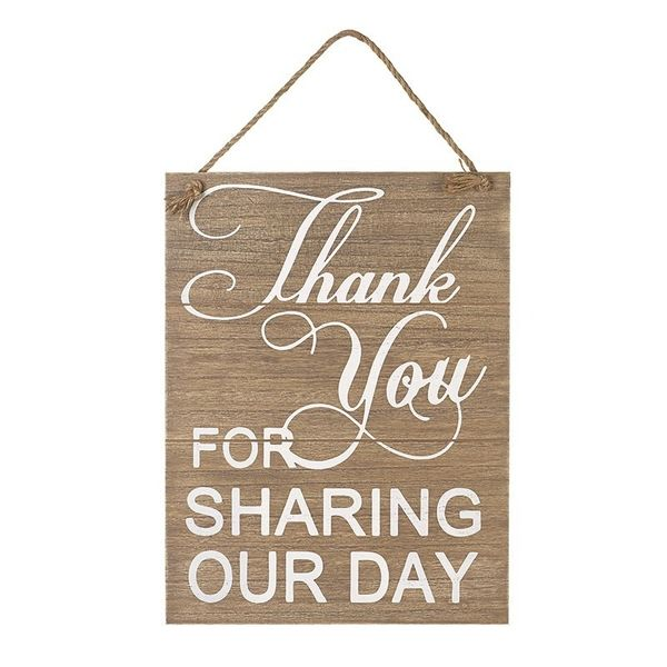 Thanks you For Sharing Our Day Sign