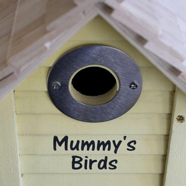 Personalised Bird Box Slatted
