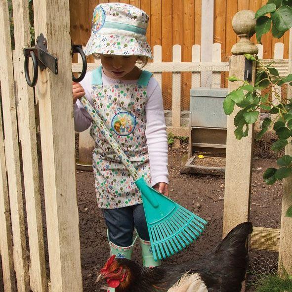 Peter Rabbit Kids Garden Rake - In use