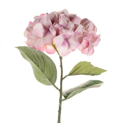 68cm Single Large Hydrangea Antique Pink