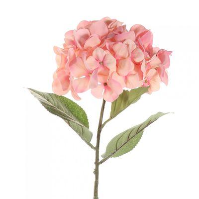 68cm Single Large Hydrangea Peach