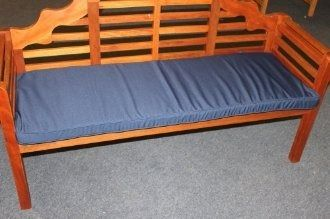 Cushion for 3 Seater Bench Navy Blue