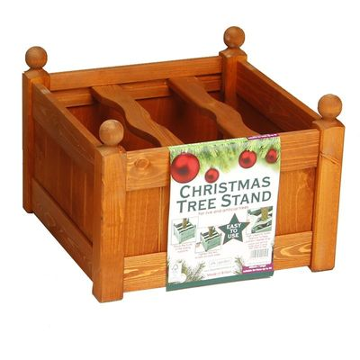 AFK Large Stained Christmas Stand - Teak