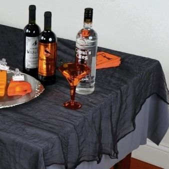 Black Cheesecloth Tablecloth