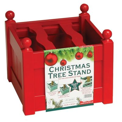 AFK Painted Christmas Tree Planter - Red