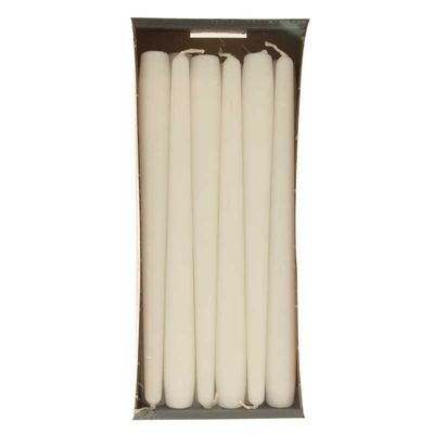 cream taper candles