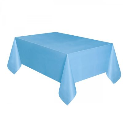 Powder Blue Plastic Tablecover