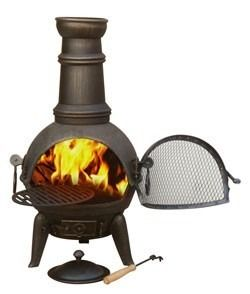 Gardeco Granada Cast Iron Chimenea Medium - Bronze