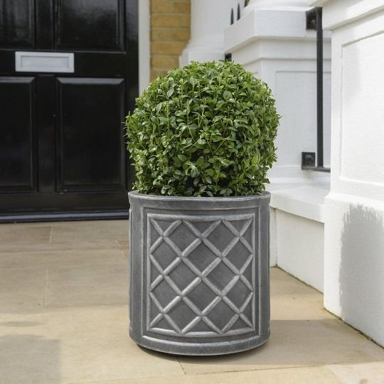 Stewart Round 32cm Lead Effect Planter