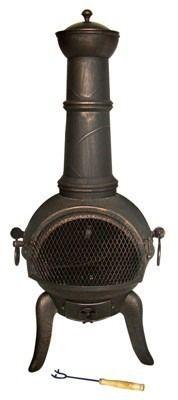 Gardeco Granada Cast Iron Chimenea Large - Bronze