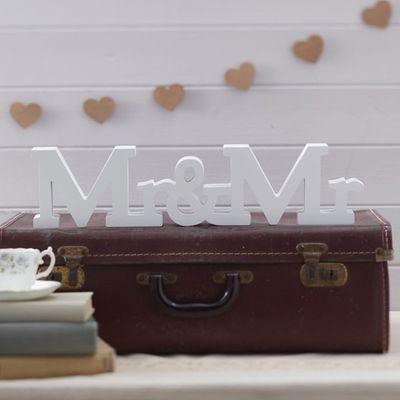 Mr & Mr Wooden Sign