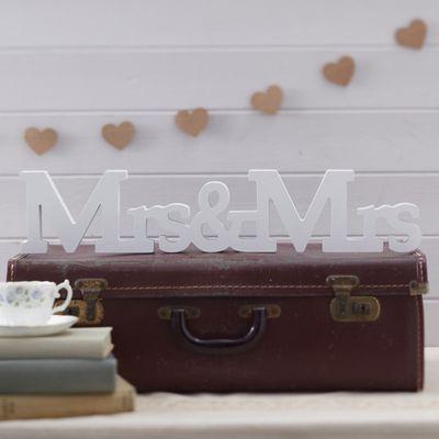 Mrs & Mrs Wooden Sign