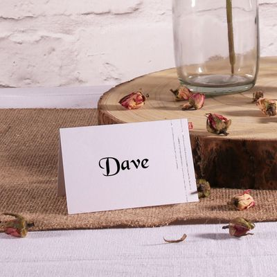 White Placecard
