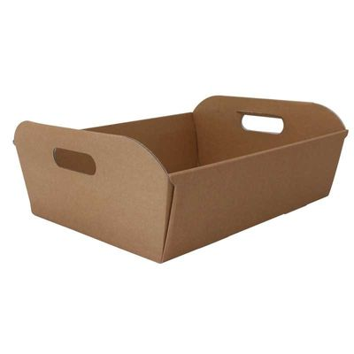 Natural Kraft Hamper Box Medium 38.5cm