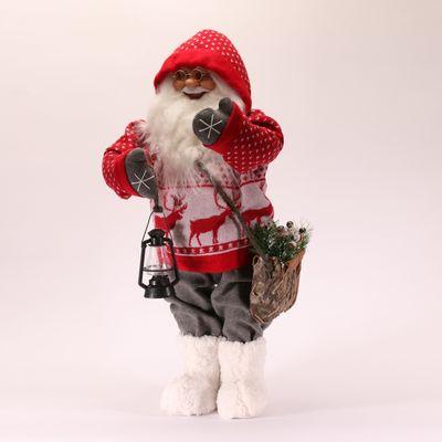 Santa with lantern and bag