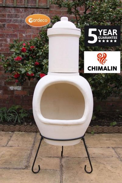Gardeco Asteria Chimalin Chimenea - Natural Clay