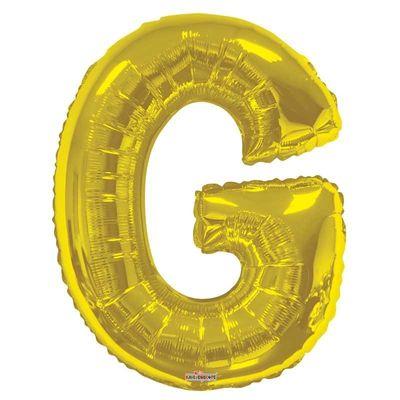 "34"" Letter Balloon - G - Gold"