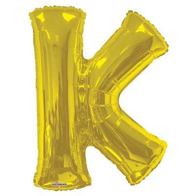 """34"""" Letter Balloon - K - Gold"""