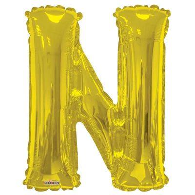 "34"" Letter Balloon - N - Gold"