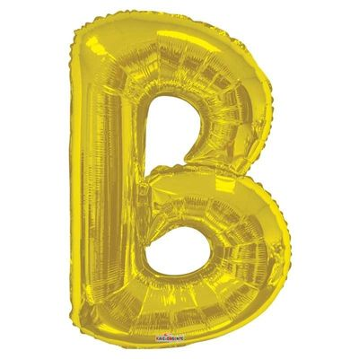 "34"" Letter Balloon - B - Gold"