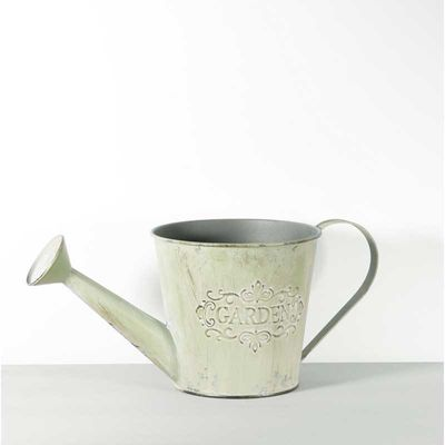 Distressed Green Watering Can