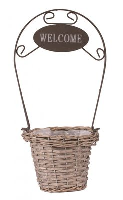 Round Welcome Home Planter
