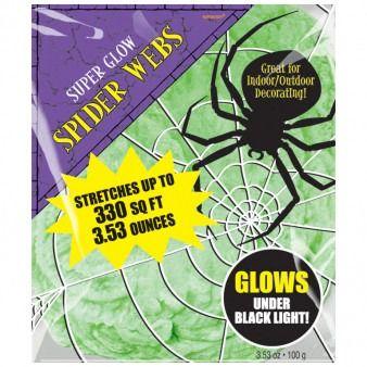 Glow in the dark spider web