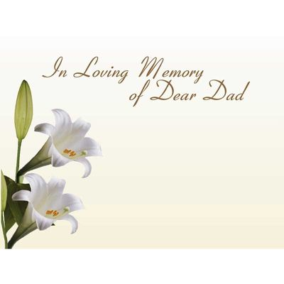 In Loving Memory Dad - White Lillies (x50)