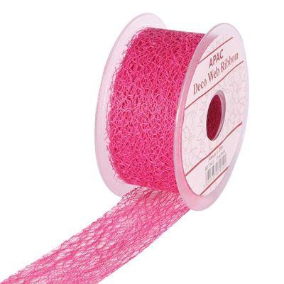 Fuchsia Deco Web Ribbon