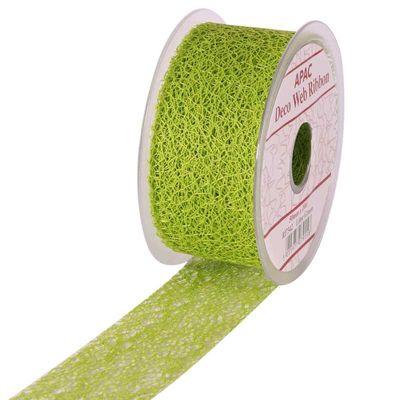 Lime Deco Web Ribbon