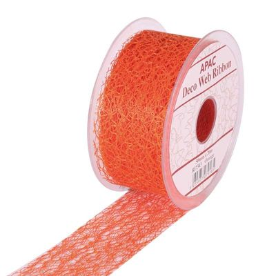 Orange Deco Web Ribbon