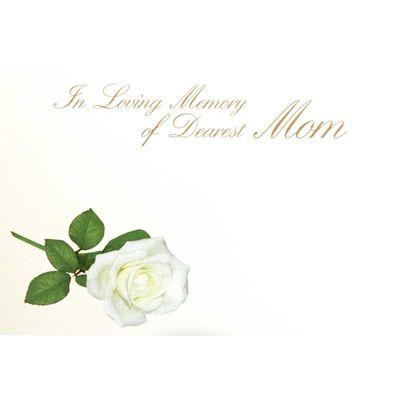 In Loving Memory Dearest Mom - Large Sympathy Card (x25)